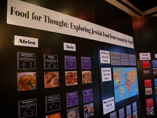 The food for thought exhibit at Temple Concord's Hanukkah