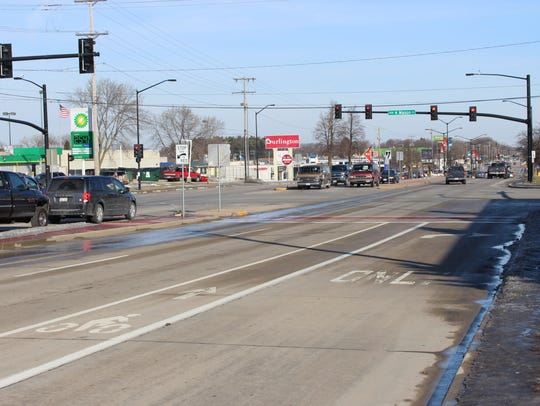 Looking north on South Military Avenue, at the intersection