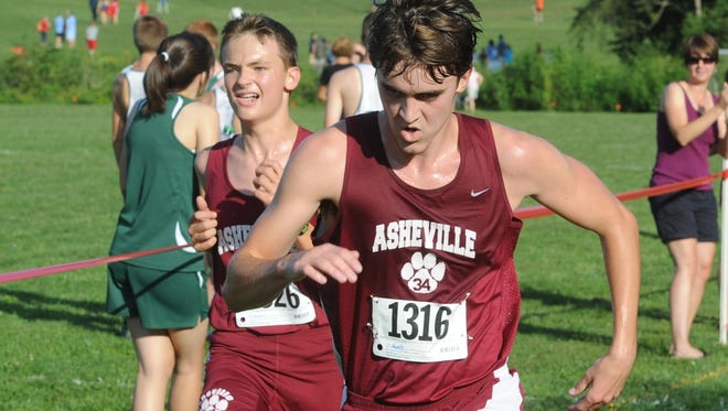 The Asheville High boys won Monday's Mountain Athletic Conference cross country meet in Fletcher.