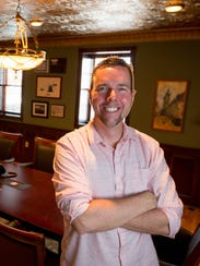 Chris Howard, owner of the historic Blodgett Haus located