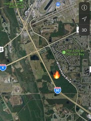 A brush fire south of Interstate 4 had I-95 closed