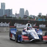 Record qualifying lap puts Indy 500 winner Takuma Sato on pole for Dual II in Detroit