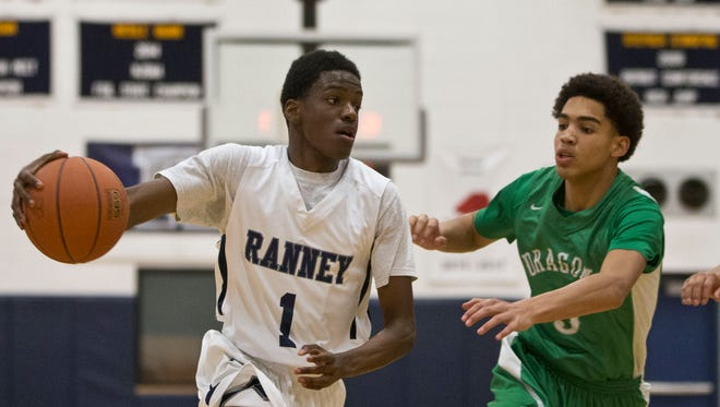 Ranney's Bryan Antoine (1). Brick vs Ranney featured in the opening round of the Shore Conference Tournament.