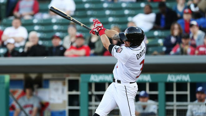 Indianapolis Indians left fielder Danny Ortiz was a triple short of the cycle in Friday's loss to the Bats.