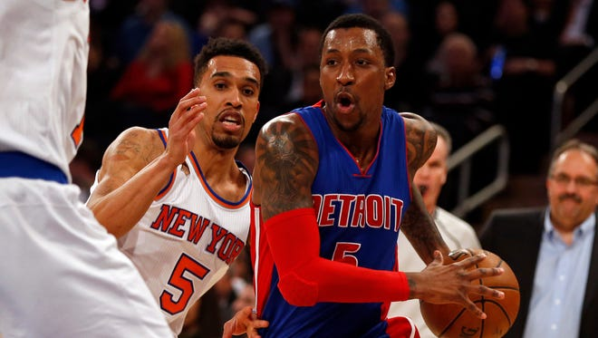 Kentavious Caldwell-Pope, C-plus. The only player to come close to making a jump, but shooting fell off after the All-Star break. One of the guys on the team that there is confidence he will reach his ceiling. 2017-18 salary: $5 million qualifying offer, but likely gets lucrative new contract.