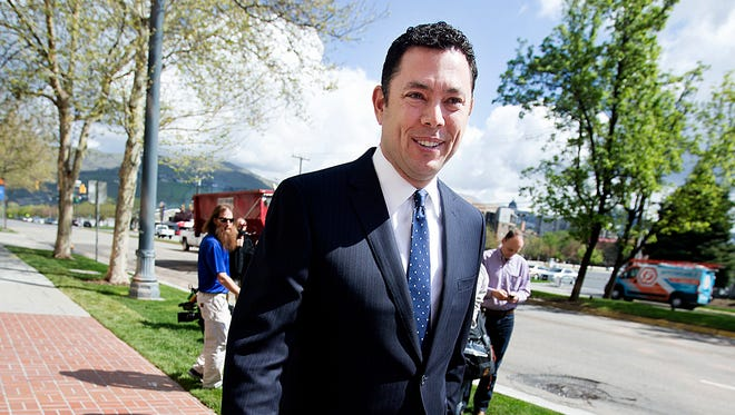 Rep. Jason Chaffetz, R-Utah, is pictured in Salt Lake City on April 19, 2017.