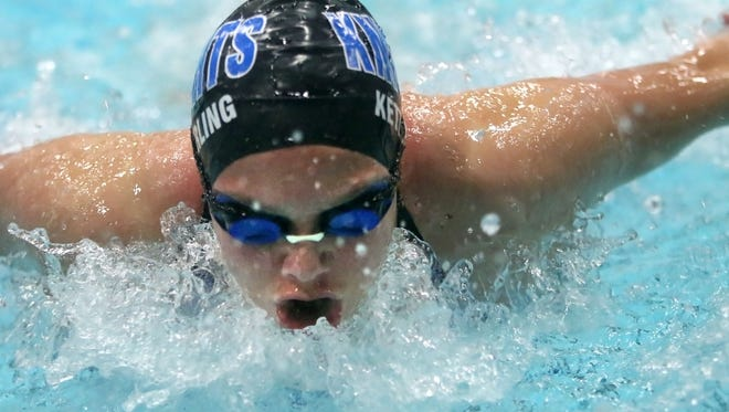 Oak Creek's Cassie Ketterling earned three first-place finishes at the Ike Invitational.