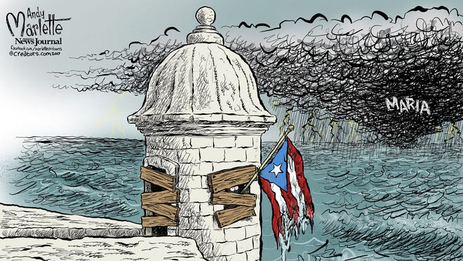 Puerto Rico and Maria commentary from Andy Marlette