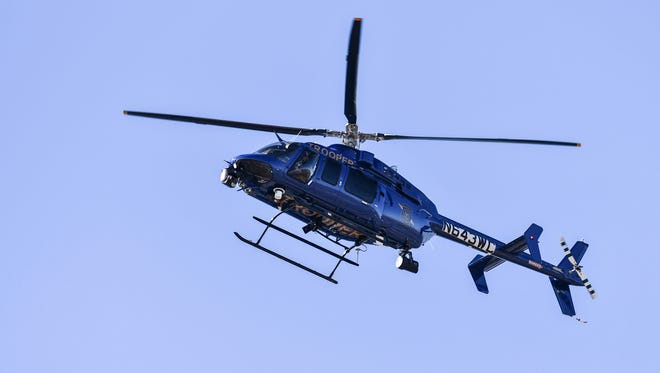 A state police helicopter crew assisted in a search for two boys who escaped from a residential treatment and counseling center in Onondaga Township on Monday morning.