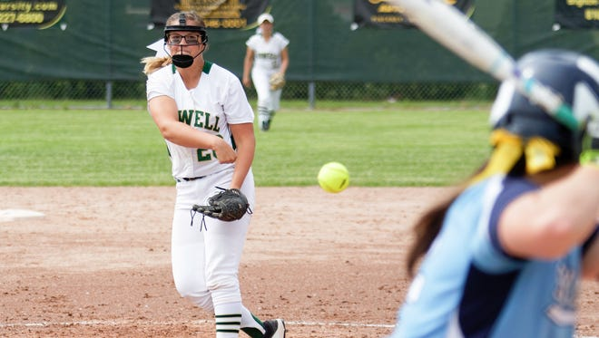 Howell's Molly Carney allowed only one run on three hits in 11 innings during the district softball tournament on Saturday, June 2, 2018.