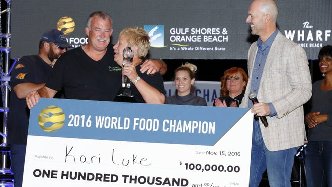 Kari Luke is named the 2016 World Food Champion.
