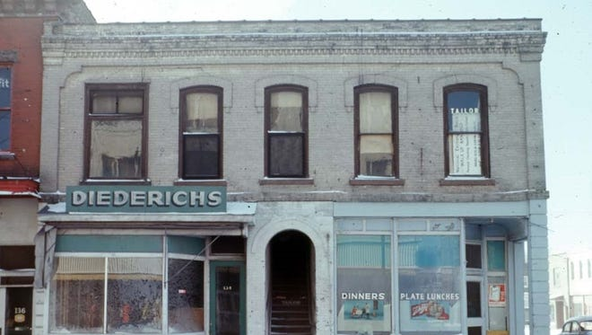 Diedrich Jewelry Store and O'Hearn's Tavern building, on southwest corner of Second and Main streets, before demolition. The photo will be part of the Fond du Lac County Historical Society's 70th birthday celebration.