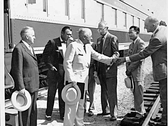In 1953, President Harry Truman came to Baxter County to dedicate the Norfork and Bull Shoals dams.