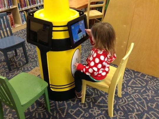 Kids can use education applications on iPads at the Franklin County Public Library to learn new skills.