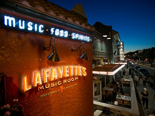 Lafayette's Music Room and Babalu are just two of many places to eat a fun meal in Overton Square on Madison Ave.