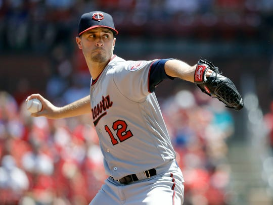 Minnesota Twins starting pitcher Jake Odorizzi throws