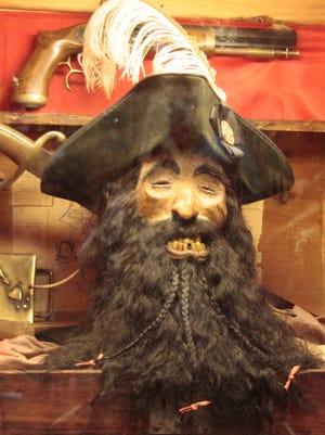 "The  preserved ""skull"" of Blackbeard found in Rich Manalio's store"