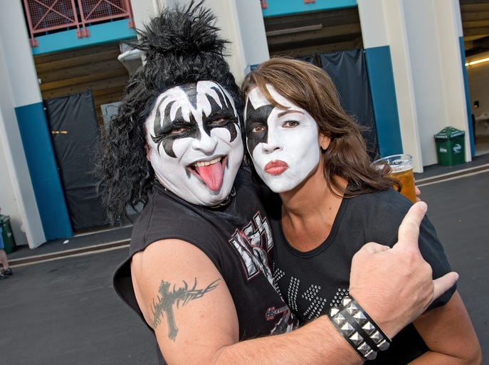 KISS and Def Leppard performed Teusday night at Riverbend Music Center. Joe and Doreen Vaughn of Georgetown