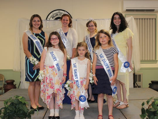 Members of the new Franklin County Dairy Royalty team