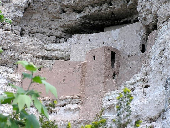 The massive five-story dwelling of Montezuma Castle