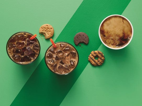 Dunkin' Donut stores will be selling Girl Scout cookie