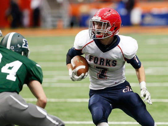 Chenango Forks' Dan Crowningshield carries the ball