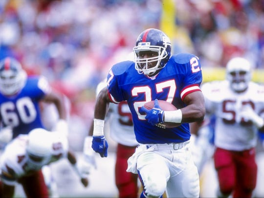 Running back Rodney Hampton was selected by the Giants