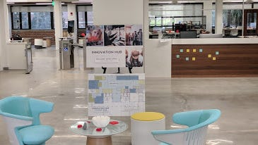 The Goldstein Library, now the Innovation Hub, received a $2.5 million upgrade.