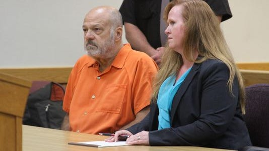 Martin Edward Zale and defense attorney Melissa Pearce at an exam hearing Sept. 9, 2014.