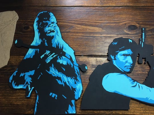 You never know who will get made into a stencil and then painted. Artist Jon Pemberton creates his own monochromatic color schemes for famous faces.