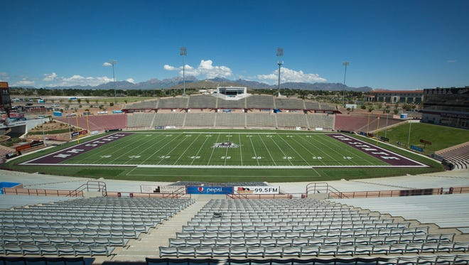Aggie Memorial Stadium at New Mexico State on Thursday, Aug. 23, 2018. Saturday is NMSU's first football game of the 2018-2019 season.