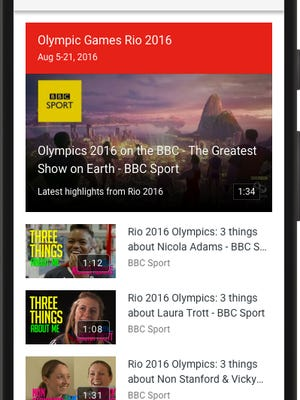 Youtube is working with broadcasters such as BBC to bring Youtube users highlights of the 2016 Olympics.
