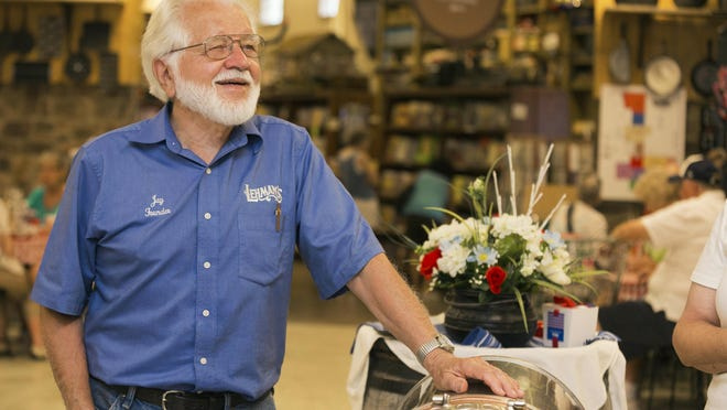 Jay Lehman, who founded Lehman's Hardware in Kidron, died Sunday. He enjoyed fixing antique items and helping customers in the store even after he handed over operations to his son Galen.