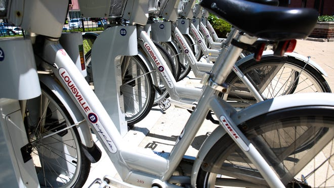 Humana has experimented with a bicycle-sharing system.
