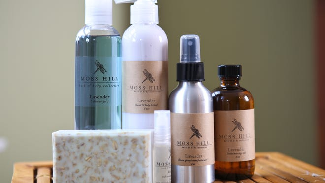Lavender body products by Moss Hill. July 8, 2014