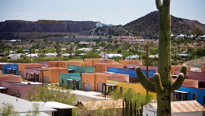 The U.S. government built 21 new homes in Ajo to house U.S. Customs and Border Protection personnel at a cost of about $11 million.