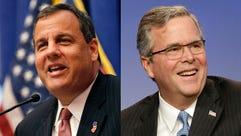 New Jersey Gov. Chris Christie and former Florida governor