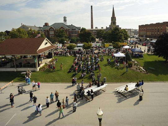 Hundreds attend the 23rd annual Ethnic Fest celebration in Two Rivers in 2014.