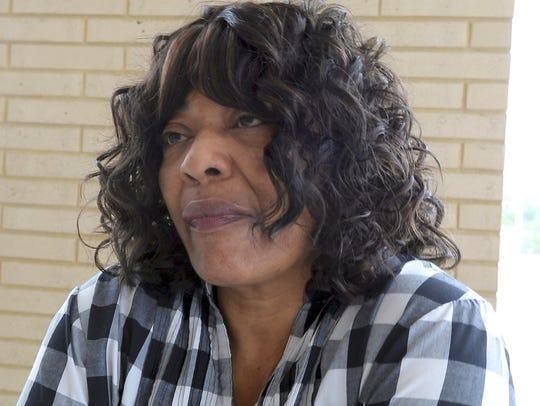 Belinda Johnson, a resident at the La Porte building