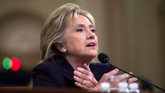 Hillary Clinton testifies before the House Select Committee on Benghazi, Washington, D.C., Oct. 22, 2015.