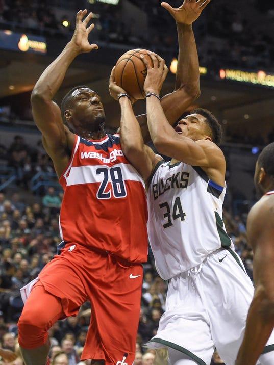 NBA: Washington Wizards at Milwaukee Bucks