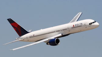 A Delta Air Lines Boeing 757.