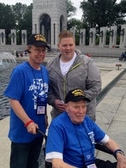 Richard Stucki was accompanied by his son in law and grandson on Utah Honor Flight.
