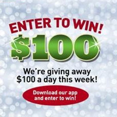 Download our app and enter to win $100!