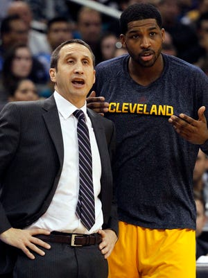 Forward Tristan Thompson is one of the few Cavs holdovers inherited by coach David Blatt.