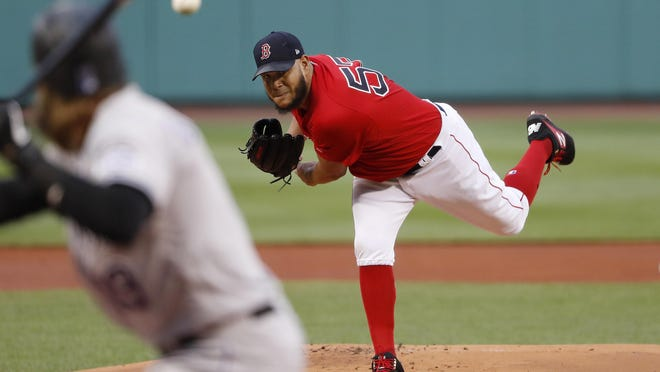 Starter Eduardo Rodriguez has not reported to Fenway as he is awaiting his test results after being exposed at home.