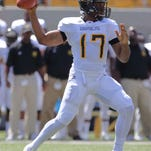 Grambling State Tigers quarterback Johnathan Williams (17) was among the Tigers working out for professional scouts on Tuesday.