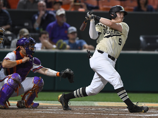 Vanderbilt's Will Toffey, right, joins former Commodores
