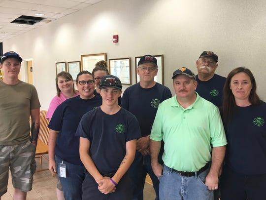 Volunteer members of the Verona Volunteer Fire Company