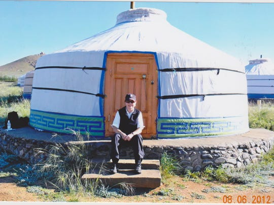 Glenna Buehler of Fraser has been to 117 countries; here she is in Mongolia. Her 5 Things list: a magnifying mirror, tape measure, flat folding extra travel bag, luggage scale and Ziploc bags.